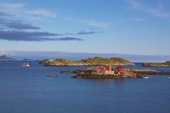 Fisherman's house. Typical rorbu fisherman house on Lofoten Islands, Norway Royalty Free Stock Photography
