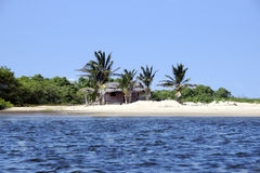 Fisherman's house in Jericoacoara in Brazil Royalty Free Stock Photos