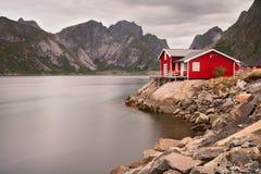 Fisherman's house on lofoten islands Royalty Free Stock Photo