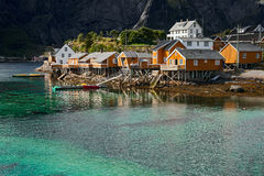 Fisherman's house on lofoten islands Royalty Free Stock Photos