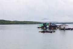 Fisherman`s house in sea phang nga Thailand Royalty Free Stock Photos