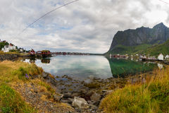Fisherman's houses in Lofoten Islands Royalty Free Stock Image