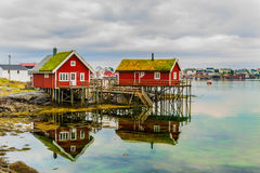 Fisherman's houses, Lofoten Islands Norway Stock Photography