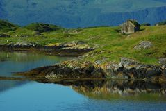 Fisherman's hut on an island Royalty Free Stock Photography