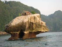Fisherman's hut in Thailand royalty free stock images