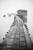 Fisherman's jetty in black and white Stock Images