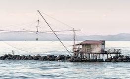 Fisherman's Net along the sea Royalty Free Stock Photography