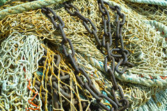 Fisherman's nets background Royalty Free Stock Photos