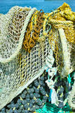Fisherman's nets background Stock Image