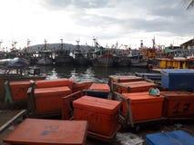 Fishermans parking stock photos
