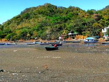 Fisherman small town in the tropics Royalty Free Stock Images