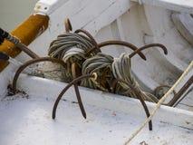 Fisherman's tools, Conero, Marche, Italy Royalty Free Stock Photo