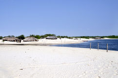 Fisherman's village in Jericoacoara in Brazil Royalty Free Stock Images