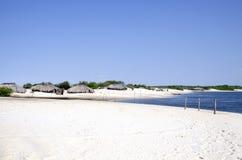 Fisherman's village in Jericoacoara in Brazil Royalty Free Stock Photography