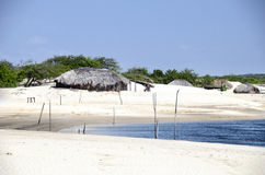 Fisherman's village in Jericoacoara in Brazil Stock Images