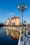 Fisherman`s village in Kaliningrad royalty free stock photo