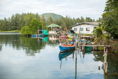 Fisherman's village of the Ko Chang island. Island is on Gulf of Thailand Stock Image