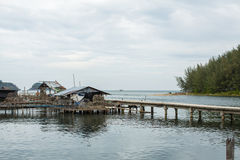 Fisherman's village of the Ko Chang island Royalty Free Stock Photography