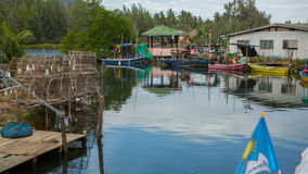 Fisherman's village of the Ko Chang island. Royalty Free Stock Photography