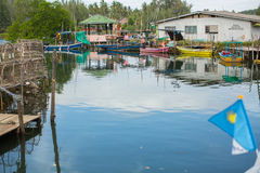 Fisherman's village of the Ko Chang island Stock Photo