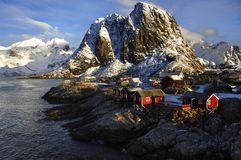 Fisherman's Village On The Lofoten, Norway Royalty Free Stock Photography