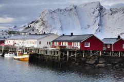 Fisherman's Village On The Lofoten, Norway Stock Images