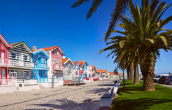 Fisherman`s village. Portugal, Costa Nova royalty free stock photos