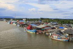 Fisherman's village in Thailand. Fisherman's village on the river, Thailand Stock Photography
