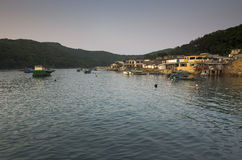 Fisherman's Village at Twilight Stock Photography