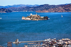 Fisherman's Wharf Alcatraz Island San Francisco Stock Photos
