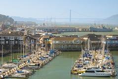 Fisherman's Wharf buildings piers marina Stock Images