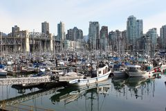 Fisherman's Wharf, False Creek, Vancouver Stock Photo