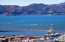 Fisherman's Wharf Golden Gate Bridge San Francisco Royalty Free Stock Photography