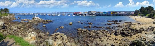 Fisherman`s Wharf and Monterey Harbor royalty free stock photography