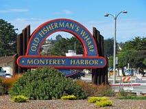 Fisherman's Wharf, Monterey Harbor, California Royalty Free Stock Photos