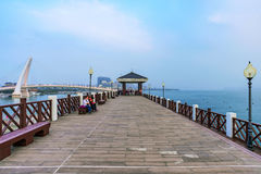Fisherman`s wharf pier in Tamsui Royalty Free Stock Photography