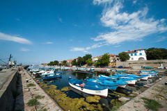Fishermans Wharf in Sozopol, Bulgaria Royalty Free Stock Images
