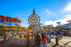 Fisherman`s Wharf tourists Royalty Free Stock Photography