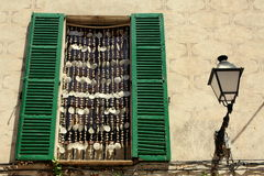 Fisherman's window. In Valdemossa, Spain royalty free stock photos
