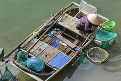 Fisherman's, woman in Vietnam Royalty Free Stock Photo