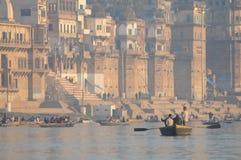 Varanasi india in the sunset Royalty Free Stock Image
