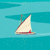 Fisherman sailboat Royalty Free Stock Images