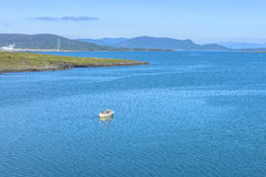 Fisherman sailing in the sea in Rogaland, Norway Stock Photos
