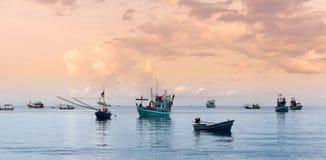 Fisherman on the sea Royalty Free Stock Photos