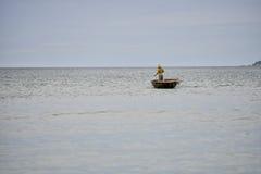 Fisherman at sea, Hoi An, Vietnam Royalty Free Stock Photo