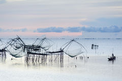 Fisherman and the sea, Thailand Stock Image