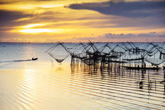 Fisherman and the sea, Thailand Stock Photos