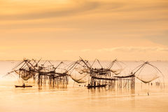 Fisherman and the sea, Thailand Stock Images