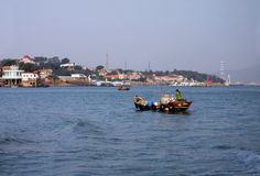 Fisherman, sea of Xiamen China Royalty Free Stock Photography