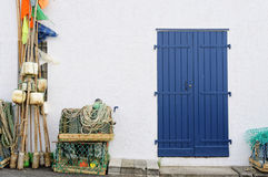 Fisherman shed. In the Basque country, France Royalty Free Stock Image